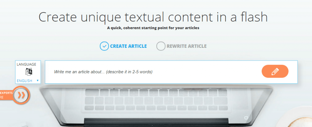 How To Cheat On Your Readers Without Feeling Guilty: articoolo content generating tool screenshot