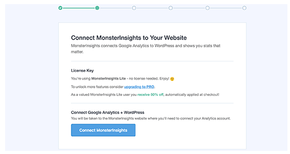 Conncet MonsterInsights to your Site