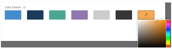 choose a colour scheme for your conversational form