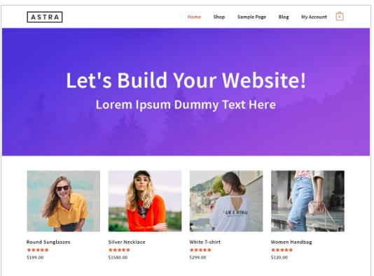 Astra a free WordPress theme