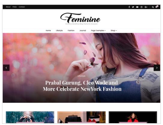Blossom feminine a free WordPress theme