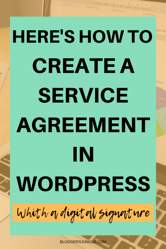How To Create A Service Agreement In WordPress