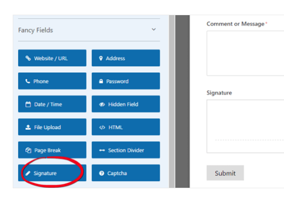 Add a signature addon for your service agreement