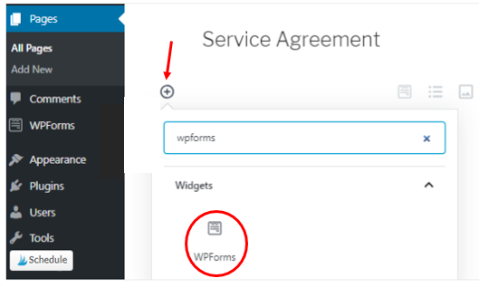 Add signature form to your service agreement