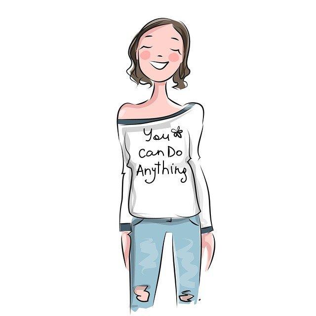 Girl confident