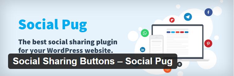 Social Pug a WordPress social sharing plugin
