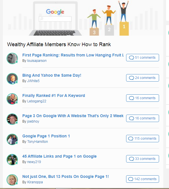 wealthy affiliate know how to rank