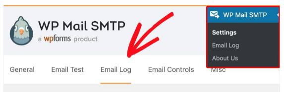 Select email log