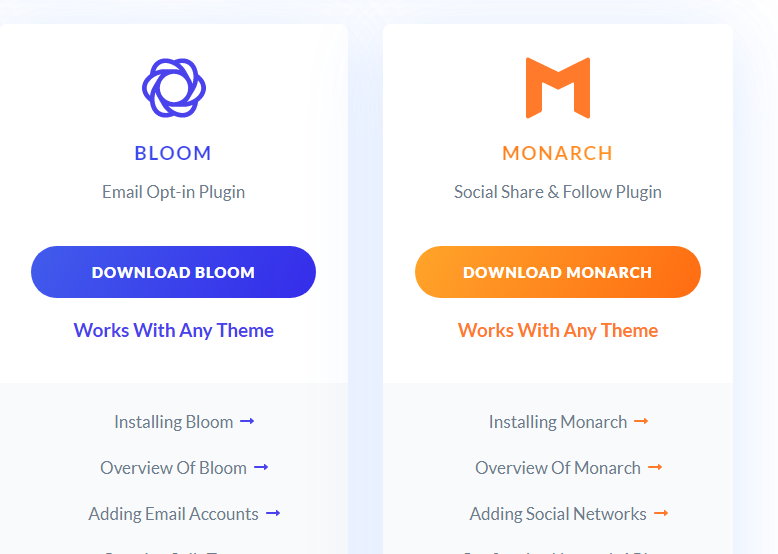 downloading Monarch a social sharing plugin from Elegant themes