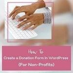 create a wordpress donation form