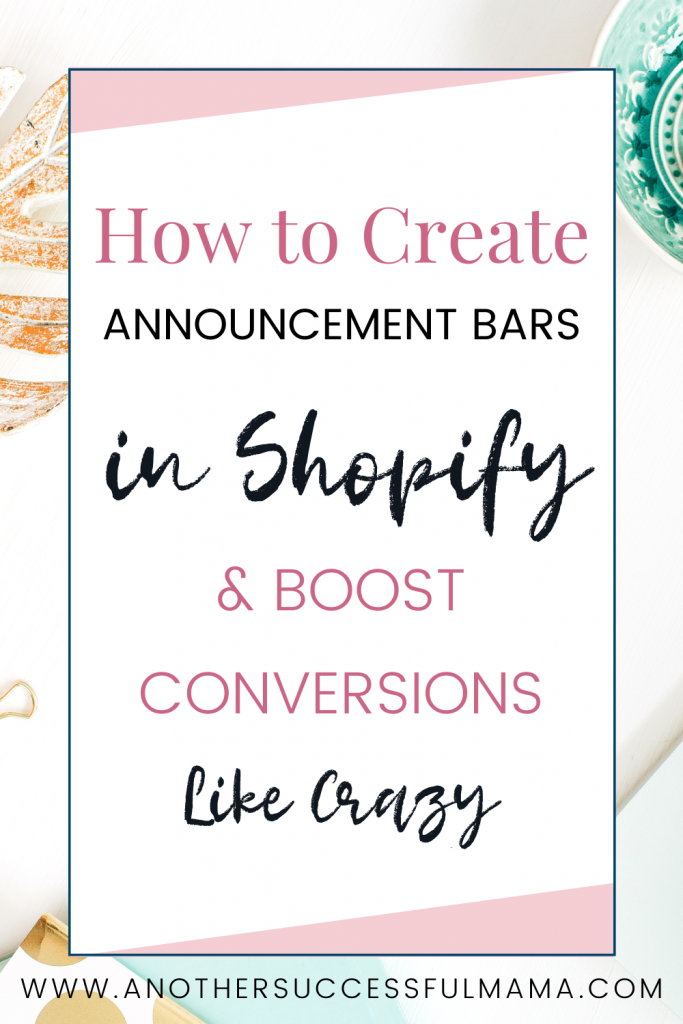 how to boost conversions with shopify announcement bars