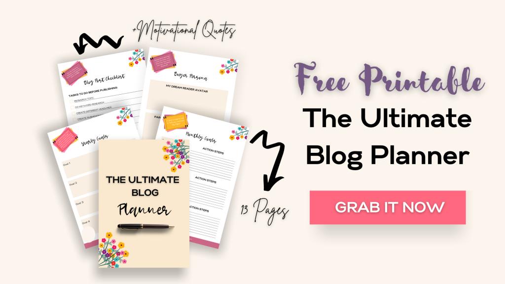 free blog planner