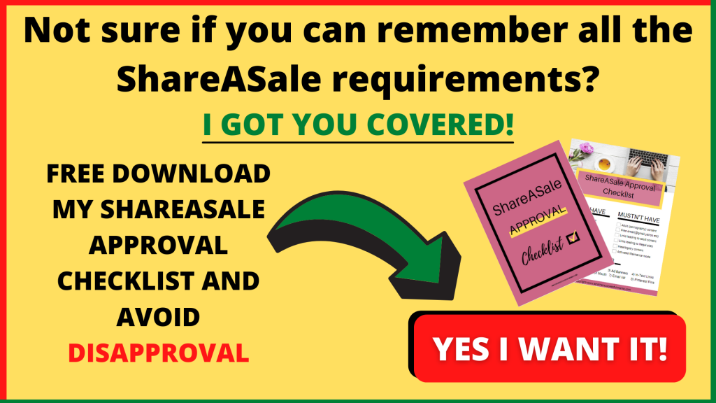 Download your free ShareASale approval checklist